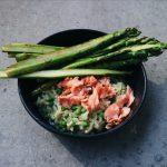 Heerlijke risotto met zalm en groene asperges